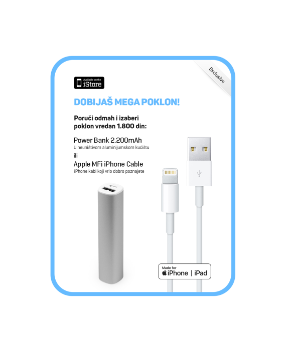 iStore-Pokloni-PowerBank-2200mAh-ili-Lightning-cable