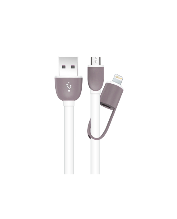 Flat 2-in-1 USB Cable