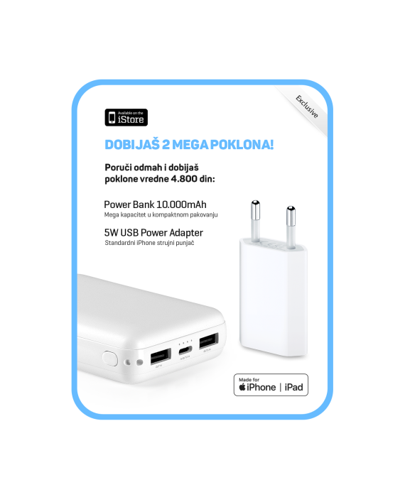iStore-Pokloni-5W-Adapter-PowerBank-10000mAh